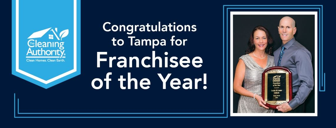 Cleaning Authority Franchisee of the Year, Tampa